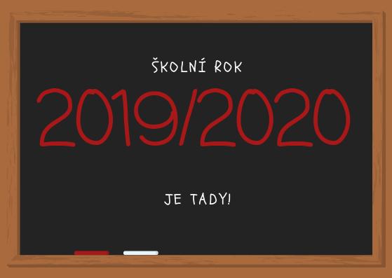 Školní rok 2019/2020 začíná!