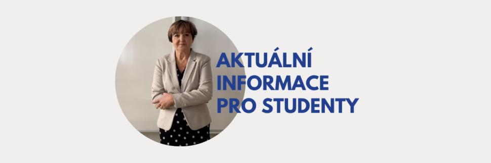 Aktuální informace pro studenty